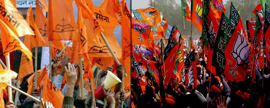 SHIVSENA BJP FLAG