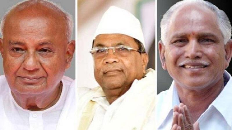 कर्नाटकात त्रिशंकू? भाजप आणि काँग्रेसमध्ये 'कांटे की टक्कर', जेडीस ठरणार किंगमेकर!