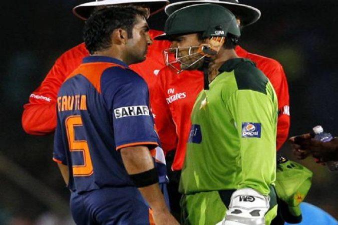 गौतम गंभीर आणि कामरान अकमल- २०१० मध्ये झालेल्या एशिया कपमध्ये पाकिस्तानचा यष्टिरक्षक कामरान अकमलने भारताचा फलंदाज गौतम गंभीरला त्रास देण्यासाठी त्याच्या विरोधात गरज नसताना अपिल केलं. नेमकी याच गोष्टीवरून दोघांमध्ये वाद झाला होता.