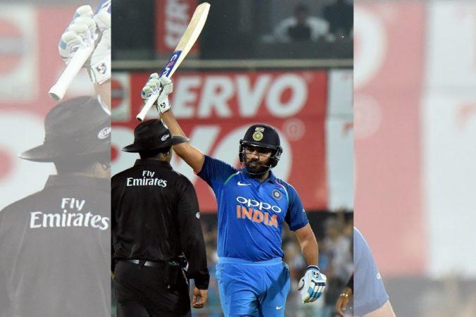 भारतीय संघाचा सलामीवीर आणि मुंबईकर रोहित शर्माने गुवाहाटीमध्ये वेस्ट इंडिजविरुद्धच्या पहिल्या एकदिवसीय सामन्यात शतक ठोकले.