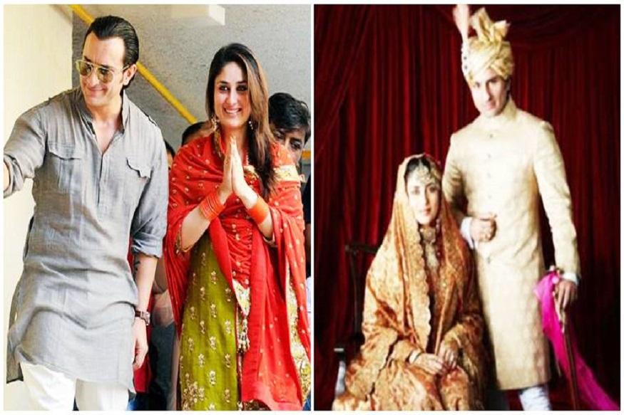 सैफ अली खान आणि करिना कपूर यांचं लग्न म्हणजे बाॅलिवूडमधला मोठा सोहळा होता. दोघांनी कोर्ट मॅरेजही केल आणि विधीपूर्वकही लग्न केलं. शाहीदशी ब्रेकअप झाल्यानंतर 2007पासून करिना आणि सैफ डेटिंग करत होते. त्यांनी लग्न 2012मध्ये केलं. धर्म, वय कसलाच फरक न मानता दोघं आनंदानं एकत्र आले.
