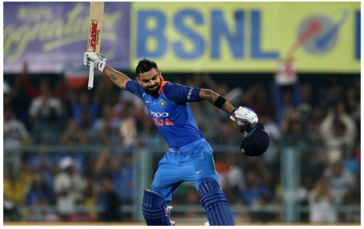 विराट कोहलीने एकदिवसीय सामन्यात १० हजार धावांचा टप्पा पार केलाय. भारतीय टीमचा कर्णधार म्हणून सर्वात जलद १० हजारांचा टप्पा विराटने गाठलाय.