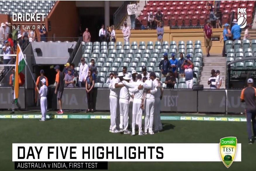 Ins vs Aus 1st Test Match- अवघ्या ३०० सेकंदात पाहा Day 5 च्या हायलाइट्स