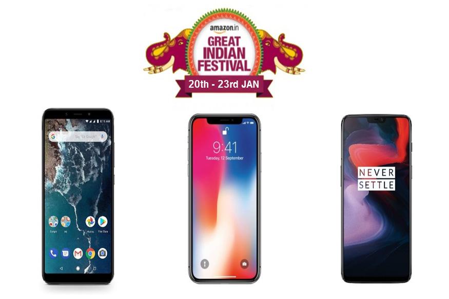 सेलमध्ये स्मार्टफोनवर नो कॉस्ट EMI आणि एक्सचेंज ऑफर दिलं जाणार आहे. डिस्काऊंट मिळणाऱ्या फोनच्या यादीत OnePlus 6T, Redmi Y2, Huawei Nova 3i, Honor 8X, Vivo V9, iPhone X अशा फोनचा समावेश आहे.