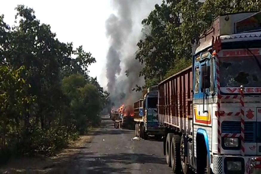 त्यानंतर अपघात हे केवळ निमित्त ठरलं आणि स्थानिकांनी ट्रक जाळत आपला रोष व्यक्त केला.