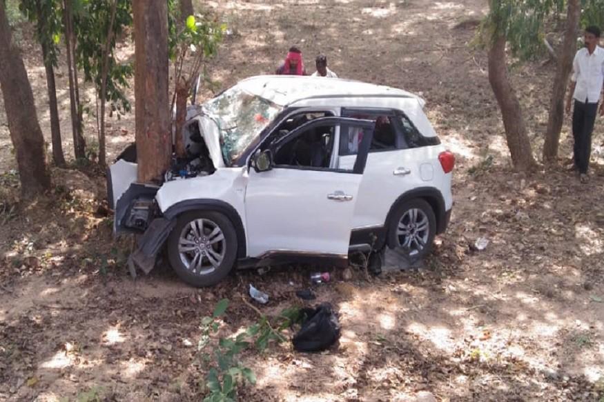 पतीची शेवटची भेट राहिलीच! पोलीस पतीला भेटायला जाताना कारचा अपघात, पत्नीचा जागीच मृत्यू