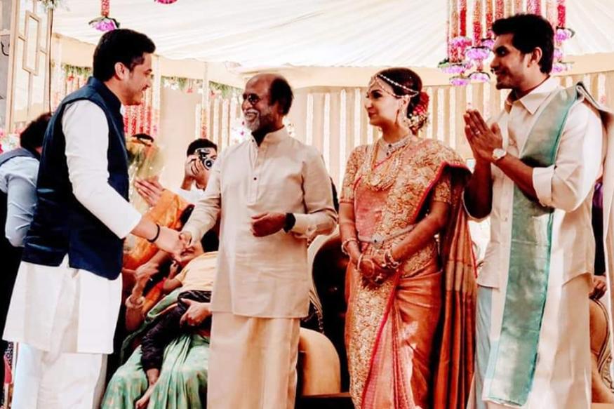 शरद पवारांचा नातू रजनीकांतच्या मुलीच्या लग्नात खास पाहुणा, PHOTOS व्हायरल