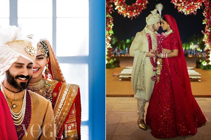 बॉलिवूडसाठी २०१८ हे वर्ष लग्नसोहळ्याच वर्ष होतं. एका सेलिब्रेटीचं लग्न होत नाही तोवर रांगेत इतर सेलिब्रिटीही लग्नाचं आमंत्रण घेऊन उभे होते. २०१८ मध्ये अशा पाच अभिनेत्रींनी लग्न केलं ज्यांच्या लग्नाची चर्चा फक्त भारतात नाही तर जगभरात झाली. त्यांचा हा लग्नानंतरचं पहिलं व्हॅलेटाइन डे आहे.