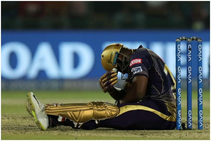 दिल्लीविरुद्ध खेळताना आंद्रे रसेलला चेंडू लागला. जोराने आदळलेल्या चेंडूने त्याला जखमही झाली. मात्र त्यानंतरही खेळण्याचा निर्णय घेत रसेलने तुफान फटकेबाजी केली.
