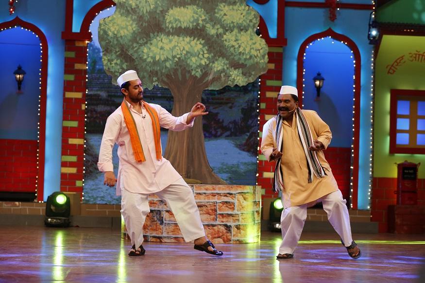 यावेळी आमिर खान आणि भाऊ कदम यांची डान्स जुगलबंदीही चांगलीच रंगली.