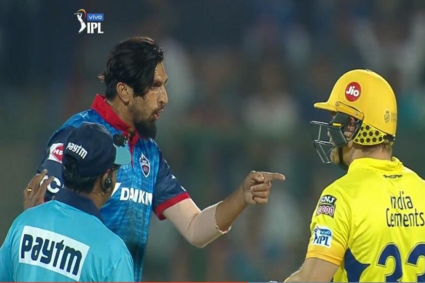 IPL 2019 : सलग दुसऱ्या दिवशी वाद, इशांत शर्मा-वॉटसन भिडले