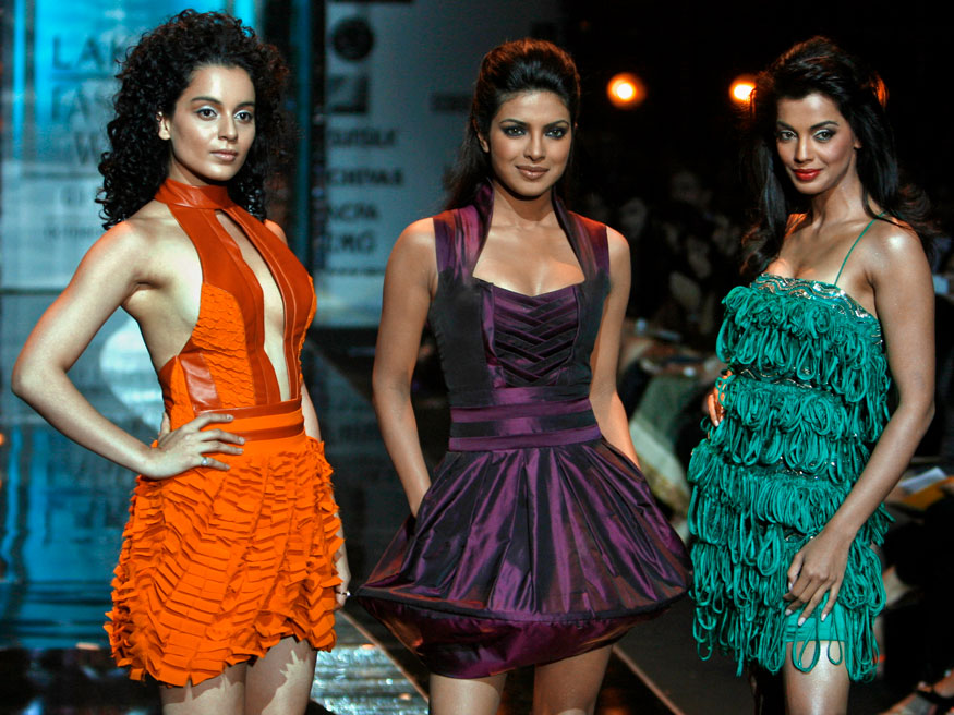 लॅक्मे फॅशन वीकला कंगना, प्रियांका आणि मुग्धा एकत्र (Image: Reuters)