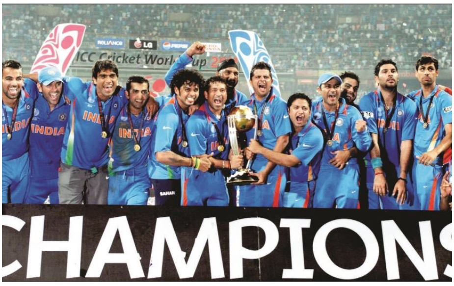 2011 ला भारताने वर्ल्ड कप जिंकला त्यावेळी धोनीच्या नेतृत्वाखालील संघाचे सरासरी वय 28.3 वर्ष होते. या संघात 37 वर्षांचा सचिन तेंडुलकर सर्वात जास्त वयाचा खेळाडू होता.