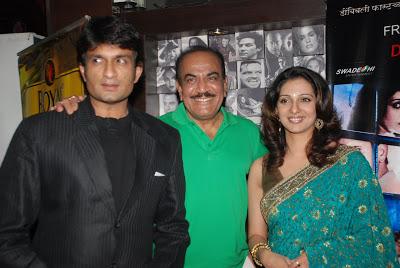 शिवाजी साटम यांचा मुलगा अभिजीत साटम हा अभिनेता आणि निर्माता आहे. त्यांची सून मधुरा वेलणकर- साटमही प्रख्यात अभिनेत्री आहे. अभिजीत आणि मधुराला एक मुलगाही आहे.
