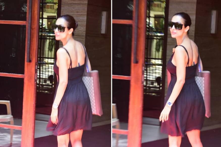 लंच डेटवर चक्क मिनी ड्रेसमध्ये पुन्हा एकदा दिसली मलायका अरोरा