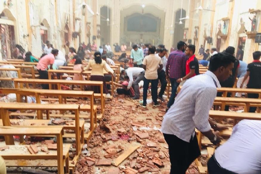 Srilanka : कोलंबोसह 5 ठिकाणी झालेल्या बॉम्बस्फोटात 160 जणांचा मृत्यू