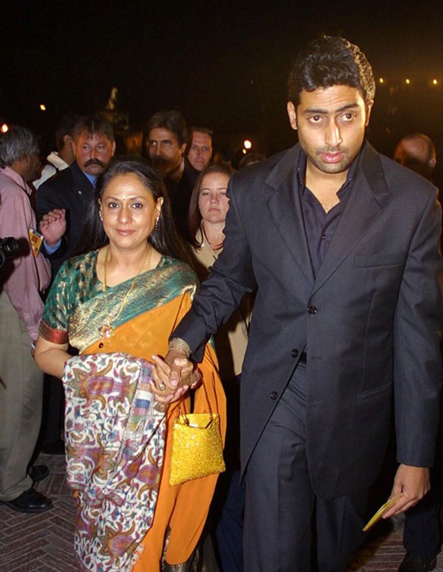 अभिषेक बच्चन आणि जया बच्चन (फोटो- एएफपी)