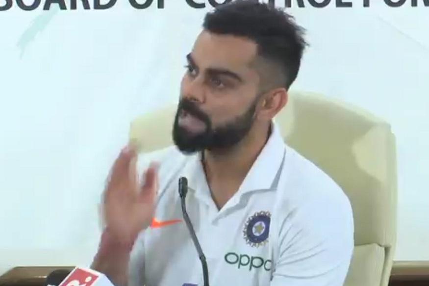 आयसीसी क्रिकेट वर्ल्ड कप 2019 साठी भारतीय संघ इंग्लंडला रवाना झाला. त्याआधी कर्णधार विराट कोहली आणि संघाचे प्रशिक्षक रवी शास्त्री यांनी पत्रकार परिषद घेतली. यावेळी दोघांनी आपण वर्ल्ड कप जिंकू असा विश्वास व्यक्त केला.