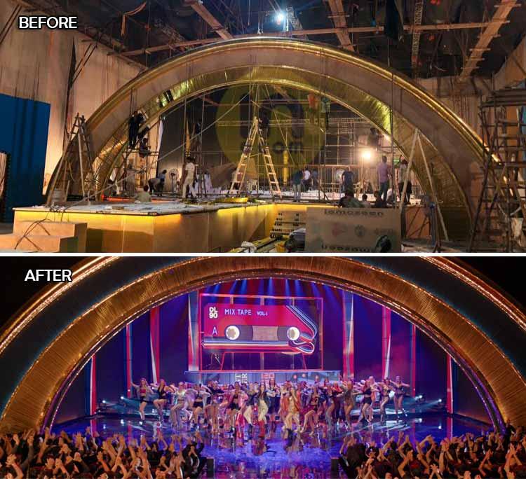 'स्टुडंट ऑफ द इयर 2' मधील 'जवानी साँग'चा सेट आणि सुंदर विद्युत रोषणाई.