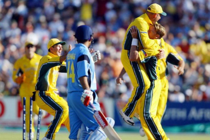 1999 च्या वर्ल्ड कपमध्ये मोहम्मद अझरुद्दीन कर्णधार असताना भारताला ऑस्ट्रेलियाने पराभूत केलं होतं. त्यानंतर ऑस्ट्रेलियानं विजेतेपद पटकावलं होतं.