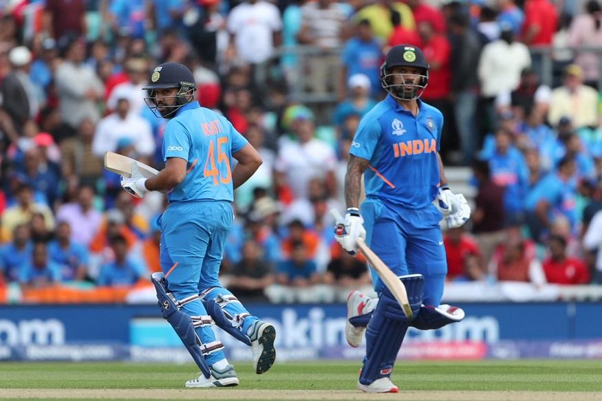 ICC Cricket World Cup मध्ये भारत आणि ऑस्ट्रेलिया यांच्यातील सामन्यात भारताचे सलामीवीर शिखर धवन आणि रोहित शर्माने शतकी भागिदारी केली. ही भागिदारी करताना दोघांनीही अर्धशतके केली.