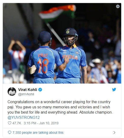 युवराज सिंगने क्रिकेट कारकिर्दीला 2000 मध्ये सुरुवात केली होती. त्यावेळी भारताचे नेतृत्व कर्णधार सौरव गांगुलीकडे होते.
