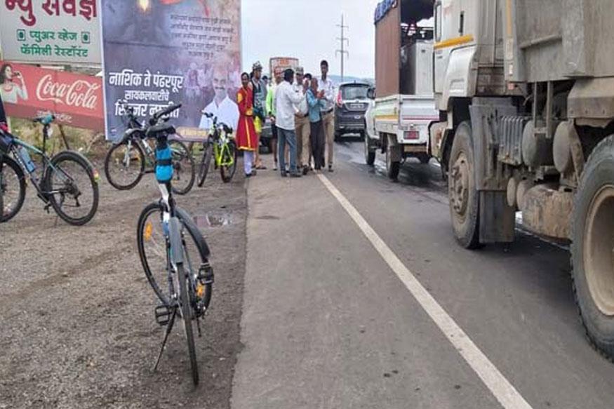 पंढरपुरला निघालेल्या सायकल वारीला गालबोट, मुलाला ट्रकने चिरडले