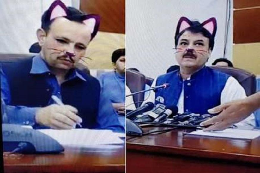 काय करावं या पाकिस्तानचं ? 'फेसबुक लाइव्ह'मध्ये मांजर झाले मंत्री