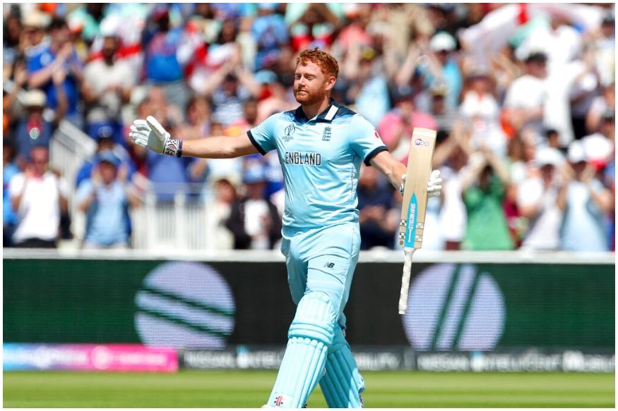 ICC Cricket World Cup मध्ये इंग्लंडचा सलामीवीर फलंदाज जॉनी बेअरस्टोनं इतिहास रचला आहे. जॉनी बेअरस्टोनं न्यूझीलंडविरुद्ध शतक केलं. त्याने 99 चेंडूत 106 धावांची खेळी केली.