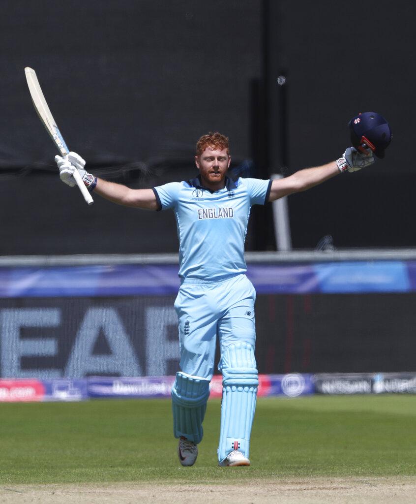 वर्ल्ड कपमध्ये बेअरस्टोचं सलग दुसरं शतक आहे. त्याने भारताविरुद्धही शतक केलं होतं. त्याच्या जोरावर इंग्लंडने भारताविरुद्ध मोठी धावसंख्या उभारली होती.