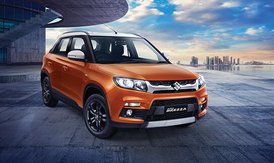 8. Maruti Suzuki Vitara Brezza - जूनमध्ये या कारच्या 8,871 युनिट्सची विक्री झाली. ही कार आता 8व्या स्थानावर आहे.  (Image: MSI website)