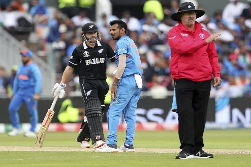 न्यूझीलंडचा कर्णधार केन विल्यम्सनला 95 चेंडूत 67 धावाच करता आल्या. यात त्याने 6 चौकार मारले. चहलच्या गोलंदाजीवर जडेजाने त्याचा झेल घेतला.