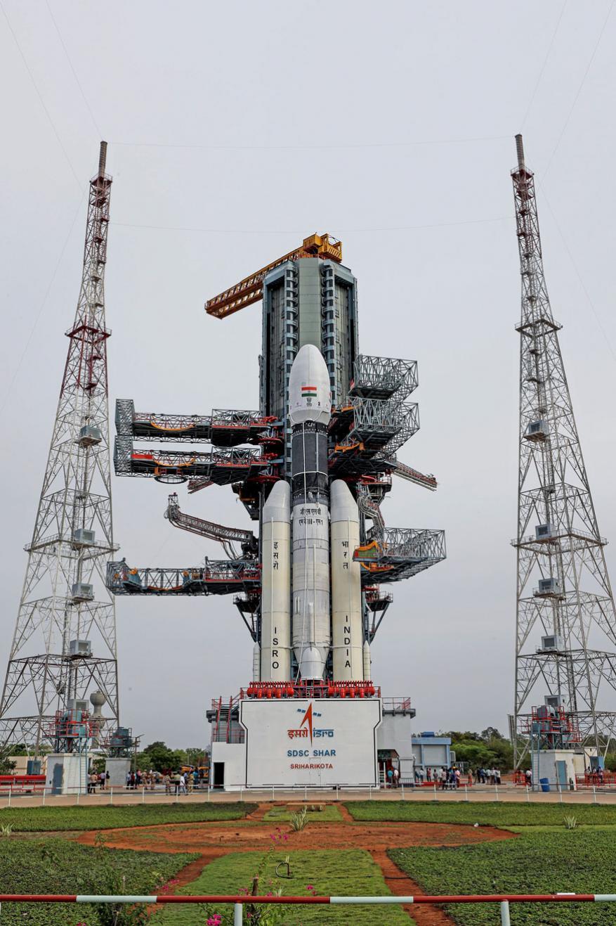 चांद्रयान -2 चं लाँचिंग श्रीहरीकोटा इथून पहाटे 2 वाजून 51मिनिटांनी होणार आहे.