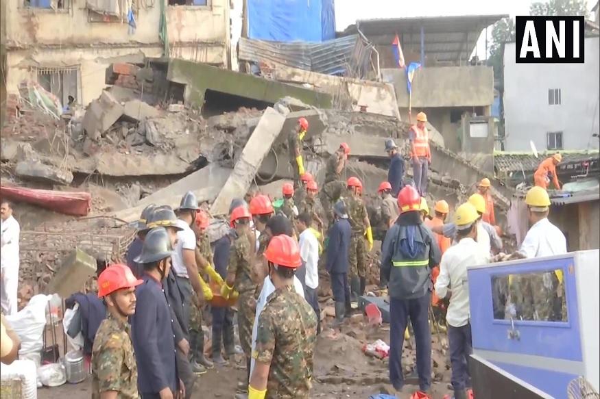 भिवंडीत 4 मजली इमारत कोसळून भीषण दुर्घटना, 2 जणांचा मृत्यू