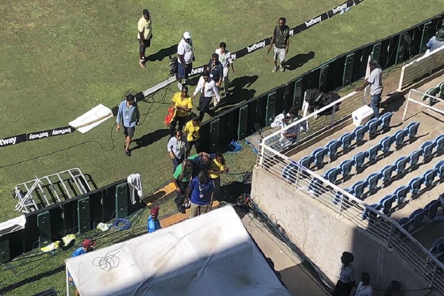 India vs West Indies 2nd Test : सामन्यादरम्यान मैदानातच कोसळला दिग्गज फलंदाज!