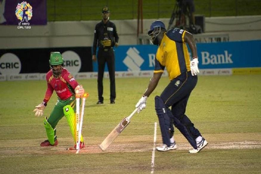 CPL 2019 : क्रिकेटपटूला भोवले 140 किलो वजन, आळशीपणामुळं झाला रनआऊट; पाहा हा VIRAL VIDEO