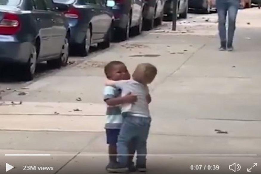 निर्मळ प्रेम! दोन मित्र असे कडकडून भेटतात तेव्हा... VIDEO पाहून तुम्हीही कराल कौतुक