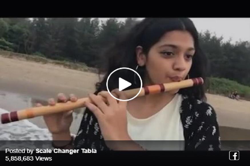 लता मंगेशकरांचं गाणं बासरीवर वाजवणाऱ्या पुण्याच्या या मुलीचा VIDEO VIRAL