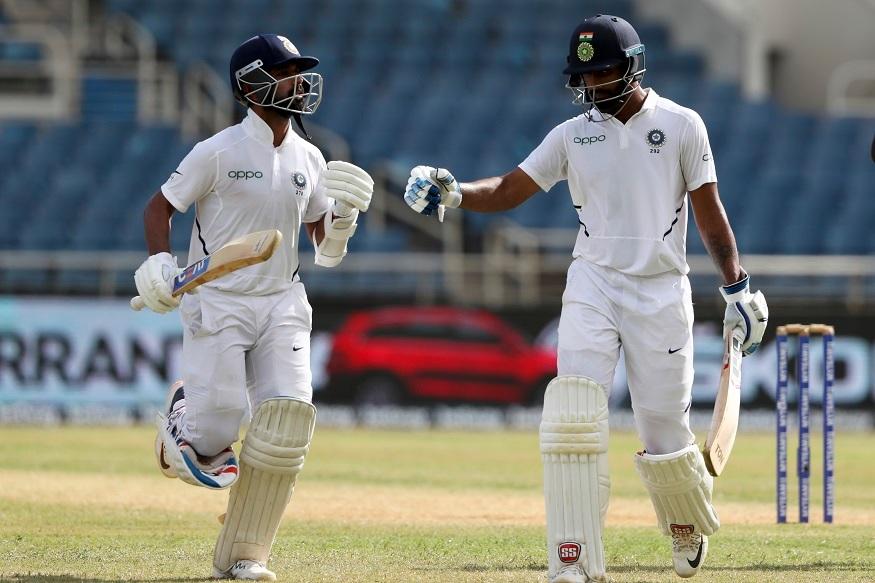 IND vs WI, 2nd Test Day 3 : दुसऱ्या डावात रहाणे-विहारीने सावरलं, भारताला विजयासाठी 8 विकेटची गरज