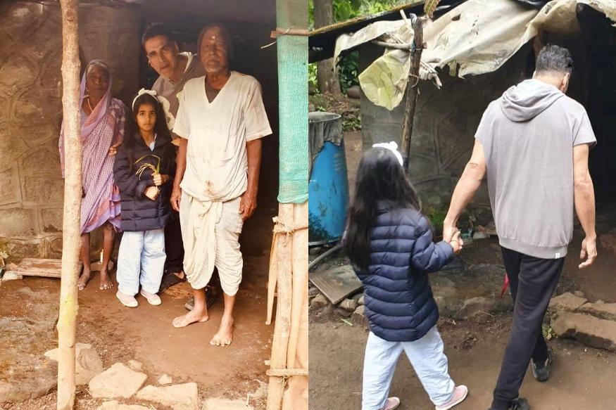 मागितलं पाणी, मिळाली गुळ-भाकरी; झोपडीतल्या पाहुणचाराने भारावला अक्षय कुमार