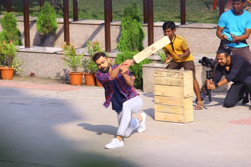 बांगलादेशसी भिडण्याआधी विराटने इंदूरमध्ये खेळली मुलांसोबत धम्माल मॅच! पाहा PHOTOS