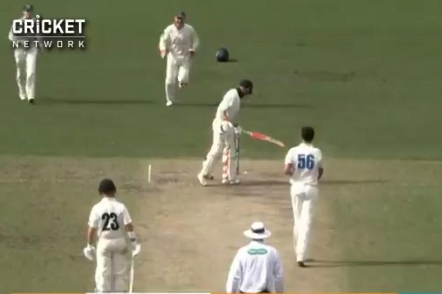 बॅट, पॅड, पॅड आणि स्टम्प! पाहा क्रिकेटमधल्या अफलातून चेंडूचा VIDEO