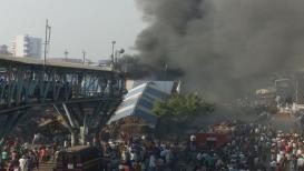 फोटो गॅलरी : वांद्रे स्टेशनजवळ अग्नितांडव