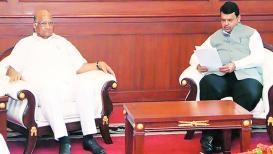 शरद पवार आणि मुख्यमंत्री फडणवीस यांच्यातली बैठक संपली