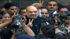 #Gujratelection2017LIVE: अमित शहांनीही केलं मतदान