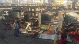 नाशिकच्या रामसेतू पुलाजवळ दुकानांना लागली आग; 7 ते 8 दुकानं जळून खाक