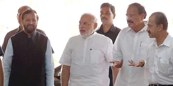 Modi in parliament house