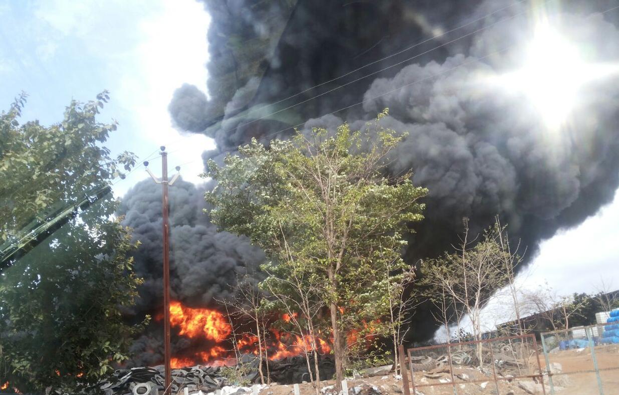 अग्नितांडव थांबले, पालघरमधील रबर कंपनीची आग आटोक्यात