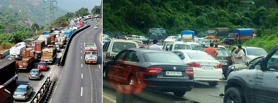 mumbai pune express way jam
