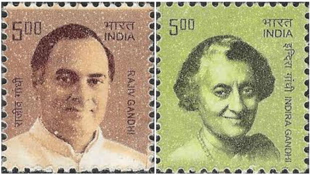 इंदिरा आणि राजीव गांधींची टपाल तिकिटं हद्दपार !